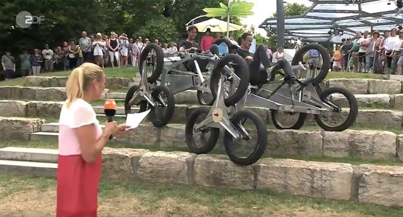 Auftritt im ZDF Fernsehgarten mit Amphibienfahrzeug